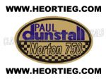 Paul Dunstall Norton 750 Tank and Fairing Transfer Decal DDUN8-6
